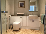 Wheelchair accessible bathroom/wetroom.